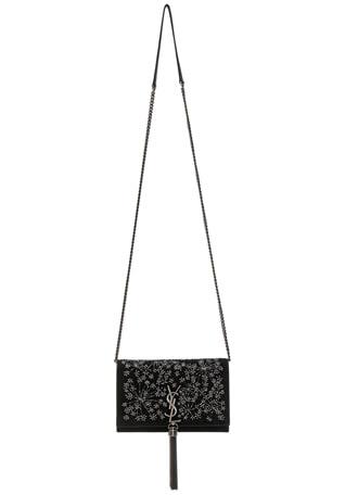 Crystal Embellished Kate Tassel Chain Wallet
