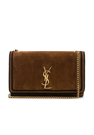 Medium Suede Monogramme Kate Chain Bag