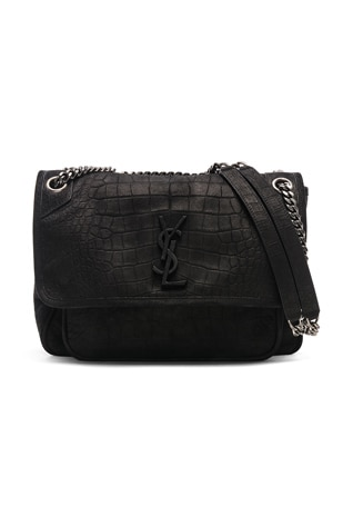 Monogramme Niki Croco Print Shoulder Bag