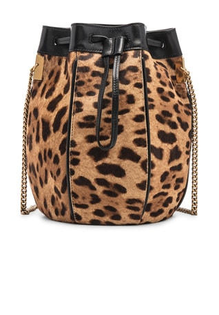 Small Talitha Leopard Bucket Bag