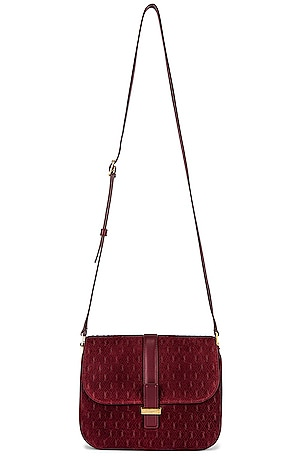 Suede Monogramme Small Satchel Bag