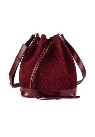 Suede Monogramme Bucket Bag