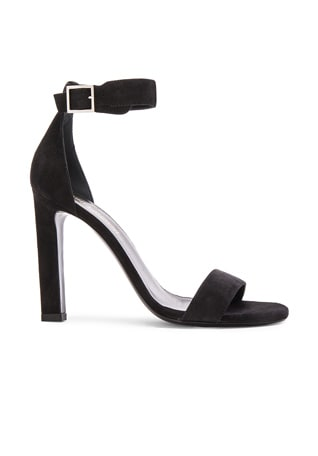Suede Grace Ankle Strap Heels