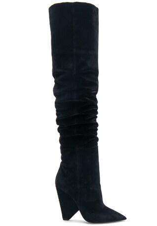 Niki Velvet Thigh High Boots