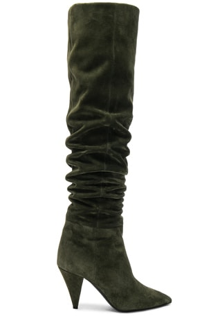Suede Era Heeled Thigh High Boots