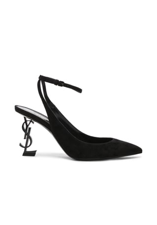 Suede Opyum Monogramme Ankle Strap Pumps