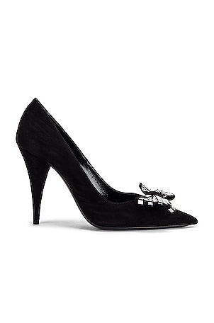 Kiki Bow Suede Pumps
