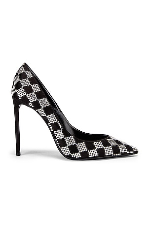 Zoe Checkered Satin Pumps