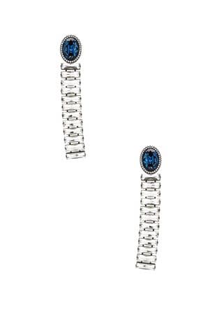 Brass & Crystal Earrings