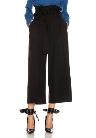 Maggie Light Wool Tie Tailored Pant