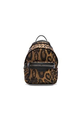 Falabella Go Alter Leopard Print Mini Backpack