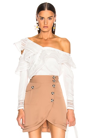 One Shoulder Frilled Top