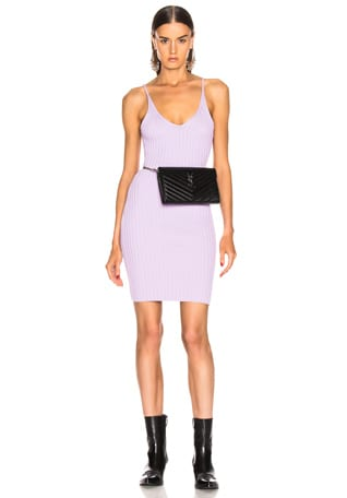 Shrunken Rib Fitted Tank Dress