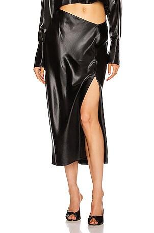 Wet Shine Wash & Go Midi Skirt