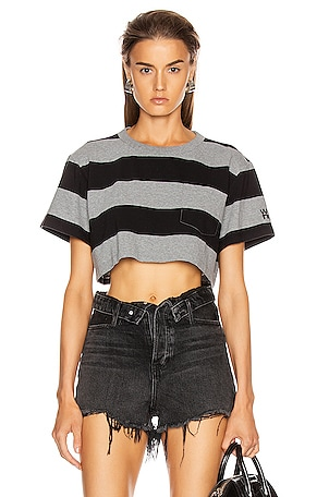 Wash and Go Wide Stripe Crop