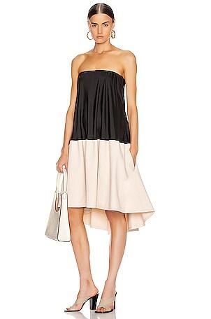 Drape Strapless Bias Dress