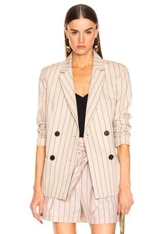 Stripe Suiting Blazer