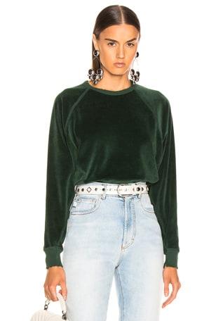 Velour College Sweatshirt