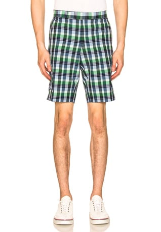 Mid Rise Madras Check Short