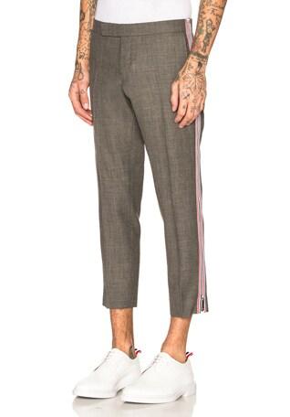 Side Zip Low Rise Skinny Trousers
