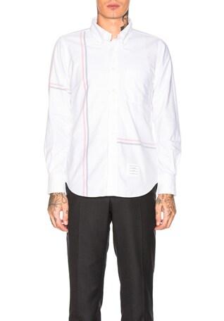 Engineered Stripe Oxford Shirt
