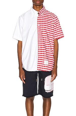 Bicolor Checkered Button Down Shirt