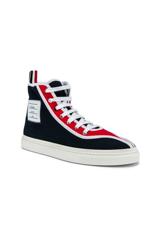 Paper Label Hi-Top Sneaker