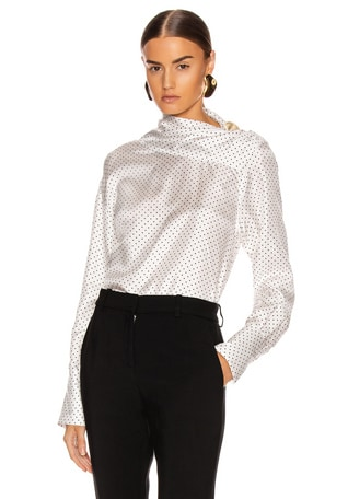 Asymmetric Drape Neck Blouse