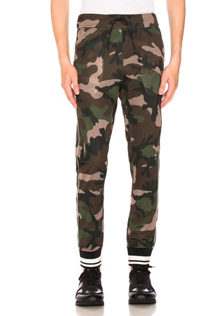Camouflage Mesh Track Pants