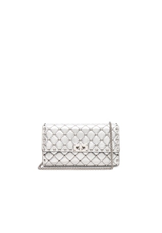 Metallic Rockstud Spike Clutch