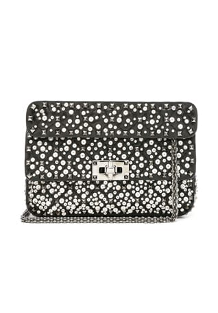 Small Embellished Spike It Shoulder Bag