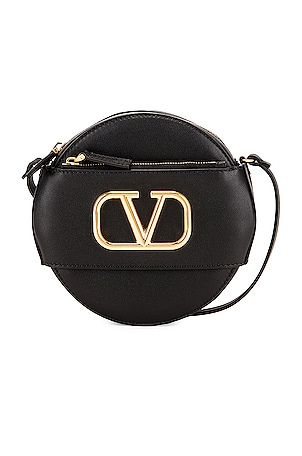 VLogo Circle Crossbody Bag