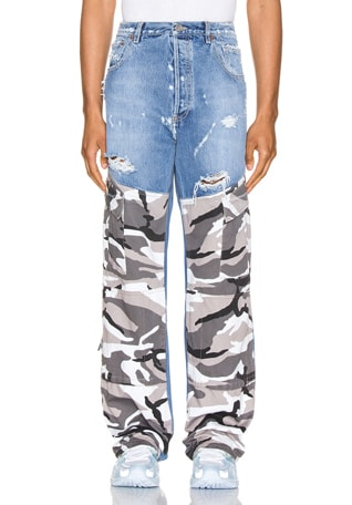 Cargo Denim Pants