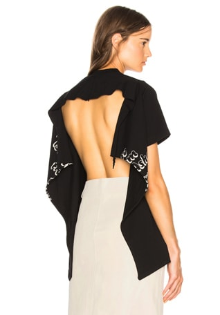 Open Back Graphic Tee