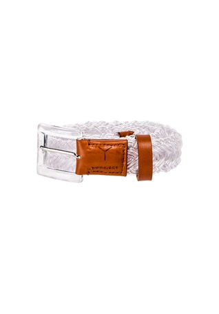 Transparent Braided Belt
