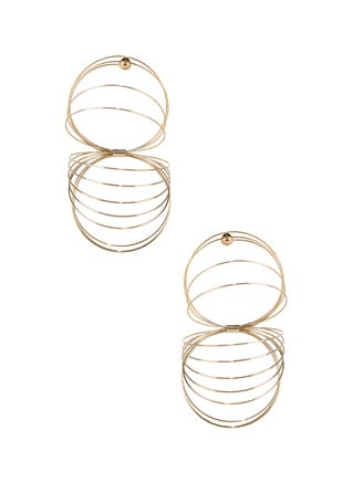 Gold Slinky Earrings
