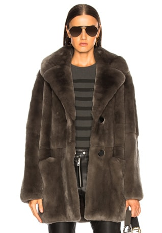Rex Rabbit Fur Coat