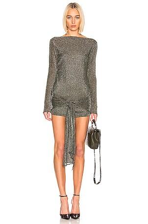 Mini Wrap Knit Dress
