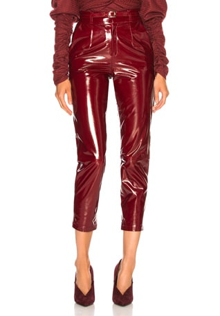Patent Leather Mom Pants