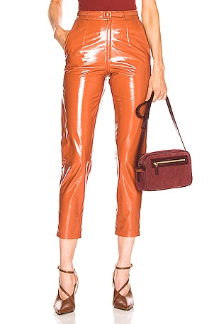 Mom Patent Leather Pants