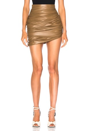 for FWRD Draped Mini Leather Skirt