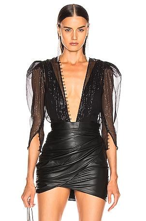 Silk Chiffon Bodysuit