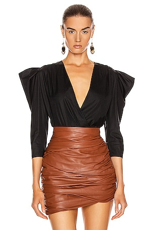 Wrap Cotton Bodysuit