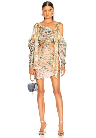 Unbridled Elixir Silk Mini Dress