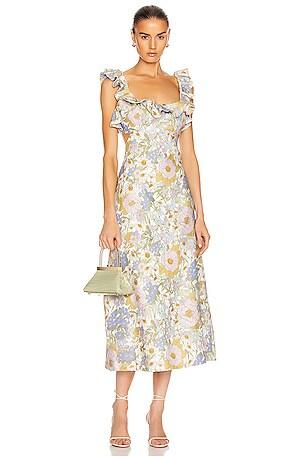Super Eight Frilled Midi Dress