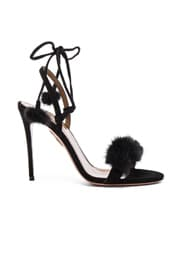 Suede Wild Russian Heels with Mink Fur