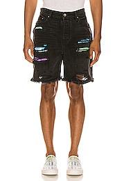 Watercolor Patch Thrasher Shorts