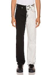Bicolor Denim Trouser
