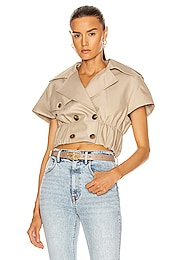 Cropped Shirt Trench Jacket