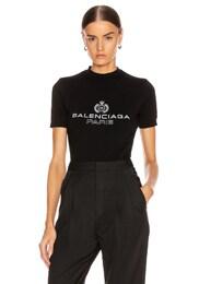 Paris Laurel Fitted T Shirt
